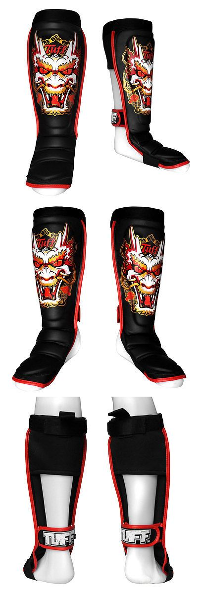 Shin Guards 179782: Tuff Boxing Muaythai Mma Hybrid Shinguards Tuf-Sg-Dragon-Blk -> BUY IT NOW ONLY: $78 on eBay!