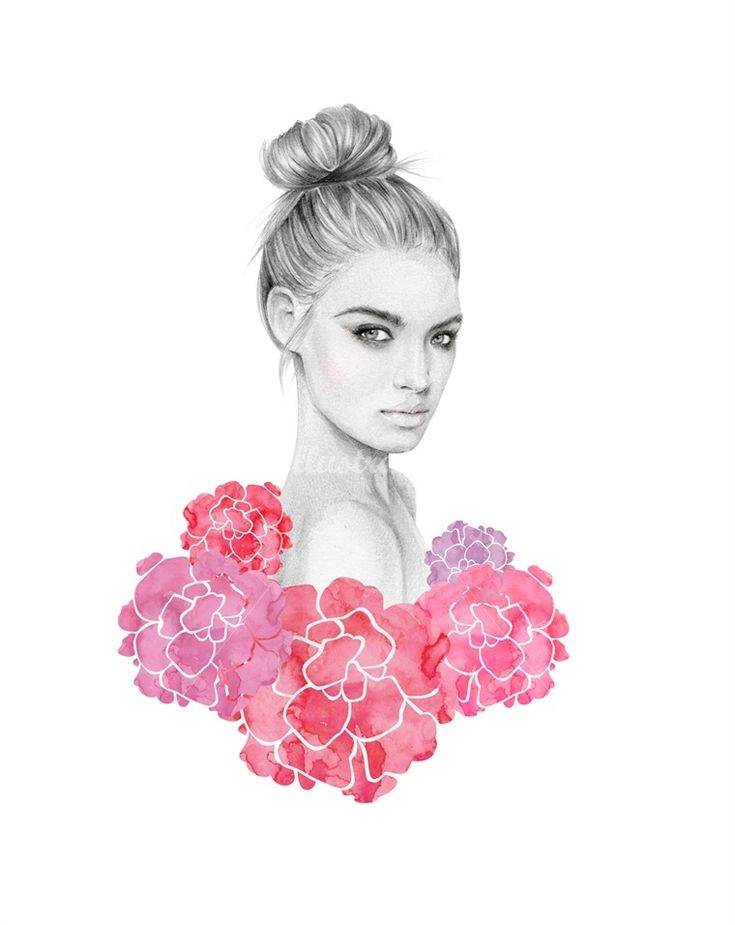 Pretty lady, pretty flowers.