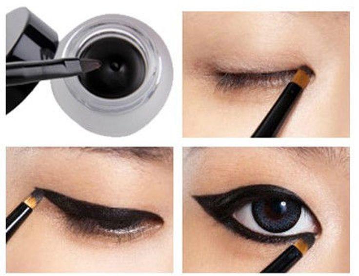Cosmetic Set Black Liquid Eyeliner Waterproof Eye Liner Pencil Shadow Gel Eyeliner Makeup + Black Brush  $0.89 (0.59 shipping)