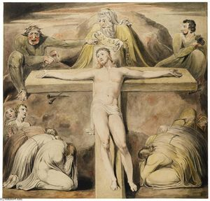 Christ Nailed to the Cross The Third Hour - (William Blake)