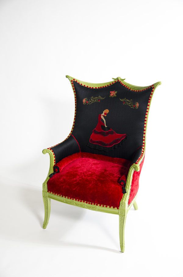 Limited Edition Recycled and Refurbished Boom Boom Chairs by Christine Delvecchio
