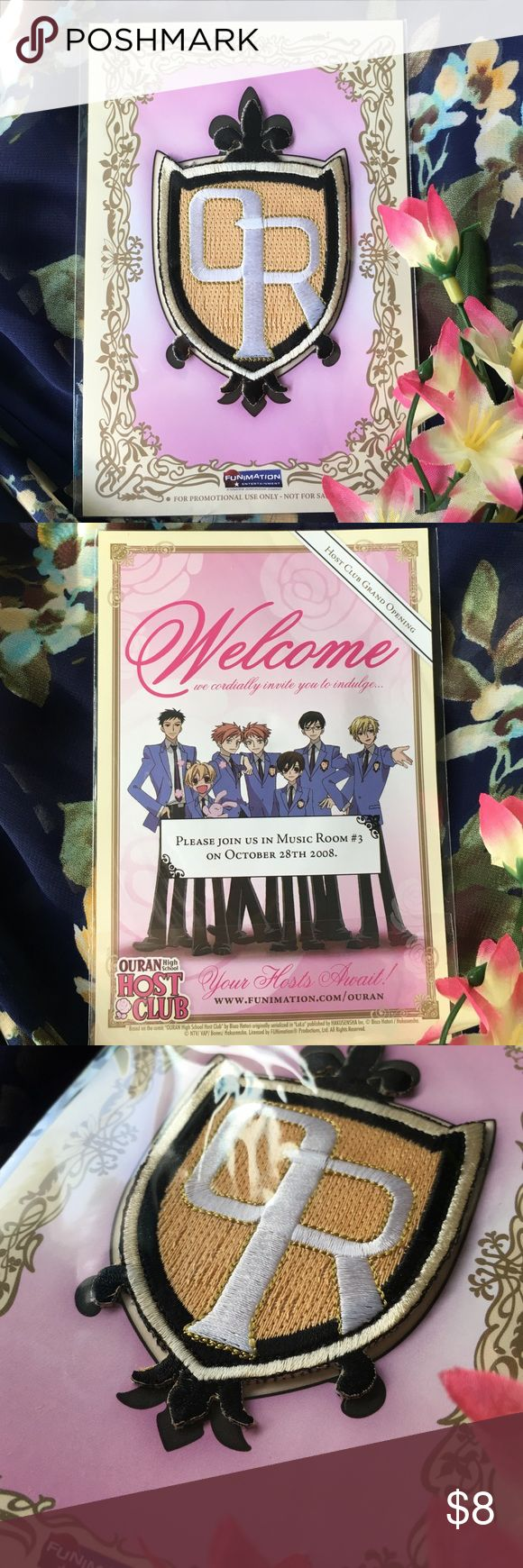 """Ouran High School Host Club Accessory Patch A sealed patch from your favorite host club! About 3"""" tall, 2"""" wide. A great addition to any collection of patches. funimation Accessories"""