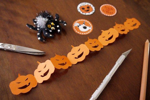 DIY pumpkins garland - ghirlanda zucche fai da te per Halloween