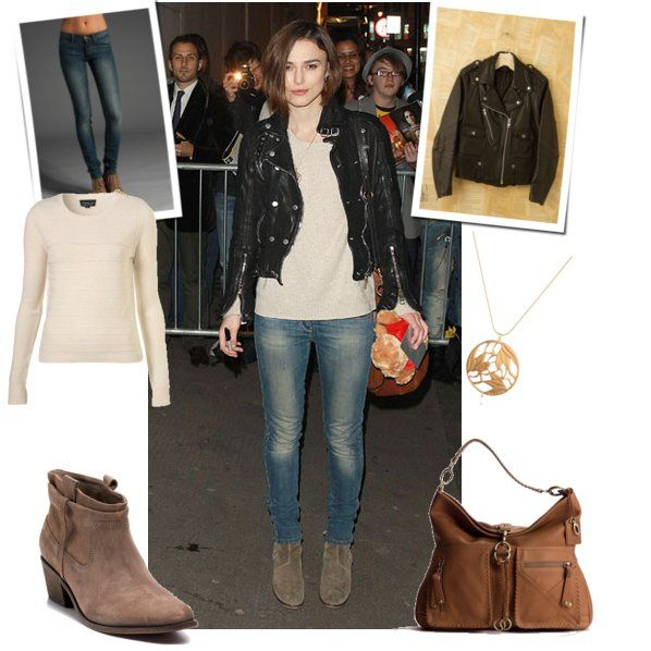 Keira Knightley's casual chic outfit