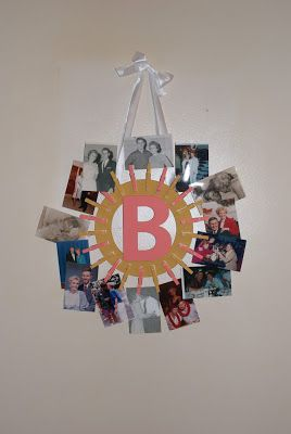 DIY Photo Wreath
