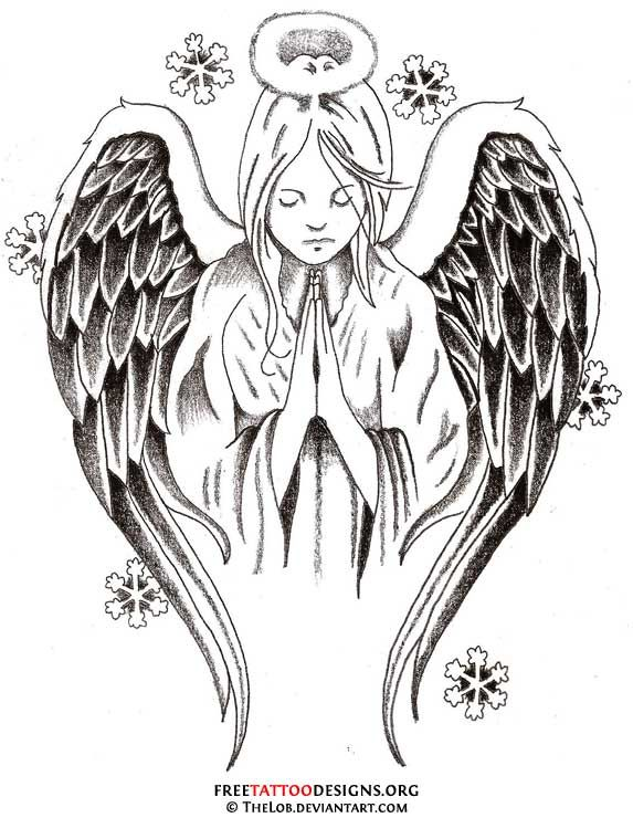 praying-angel.jpg (573×740) | Tattoos | Pinterest | Wings ...