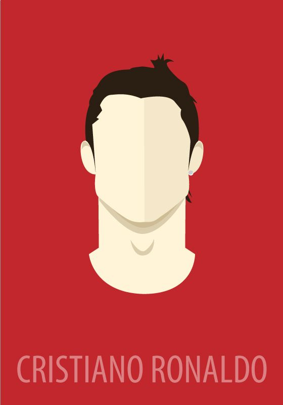 Minimal Sport Heros by Mangoline -Peter Magdy, via Behance