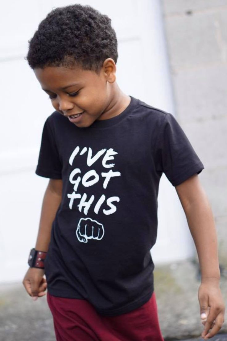 I've Got This - Fist Bump. Monochrome trendy kids graphic tees that are gender neutral and easy to style!