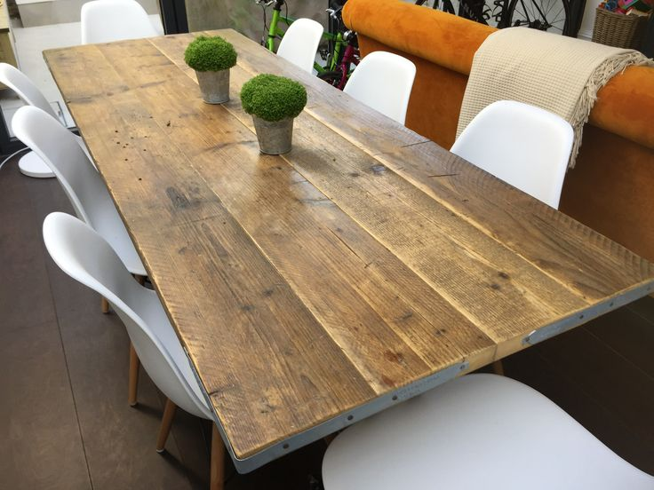 Reclaimed scaffold board dining table delivered to a lovely customer in London