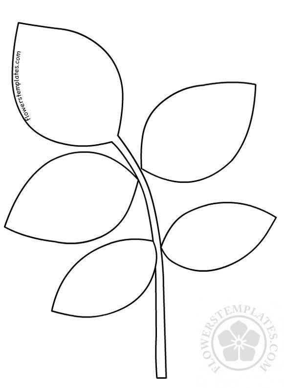 Http Flowerstemplates Com Rose Leaf Template Paper Rose Leaves