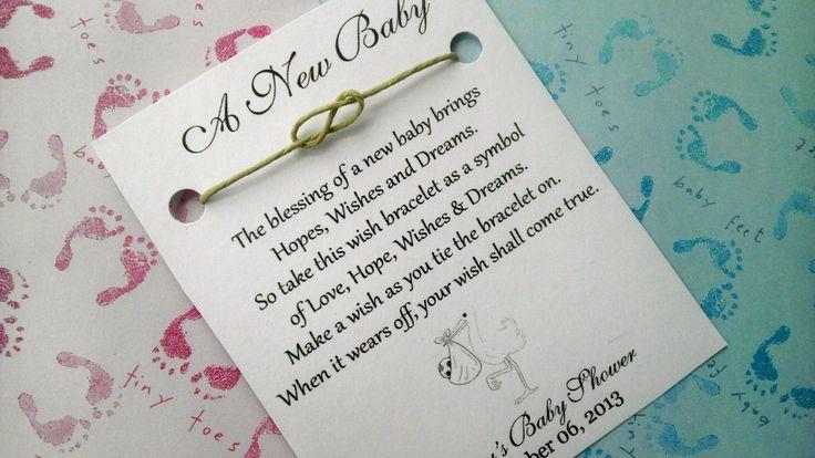 Baby Shower Wish Bracelet Shower Favor Favors