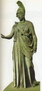 Statua in bronzo della dea Atena del Pireo (340-330 a.C. ca, Atene, Museo Archeologico)