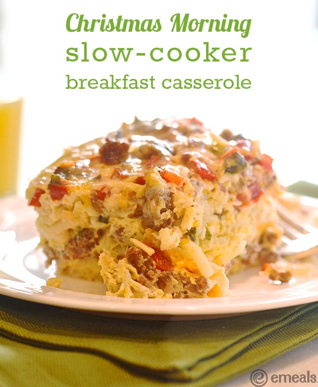 Christmas Morning Slow-Cooker Breakfast Casserole | eMeals #eMealsEats
