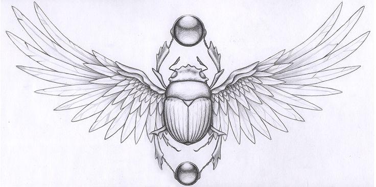 Resultado de imagen para beetle egyptian tattoo