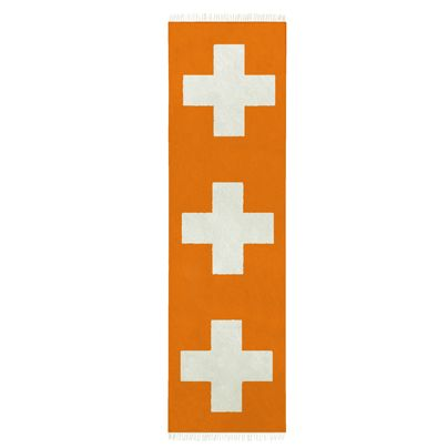 75x2.75m Crosses Hall Runner in Orange Poppy