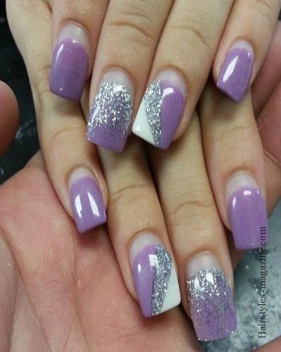Lavender Nail Art For Brides Best Unique Design Ideas For Wedding Nails 2013