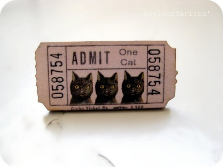 Vintage Kitty Show Ticket Ring <3 From Devious Darlins'..