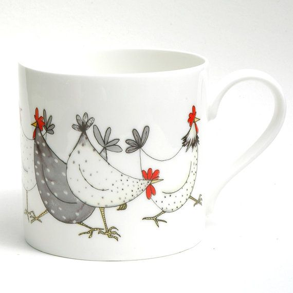 Chicken Wrap Large Balmoral Bone China Mug