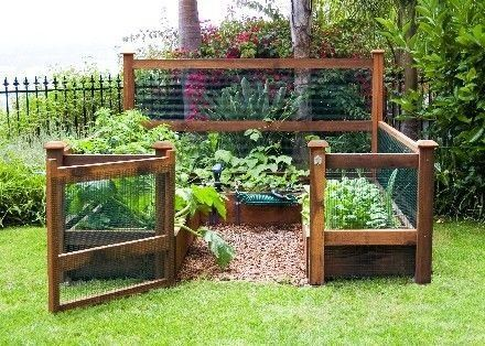 Grote tuin inrichten met schattige moestuin