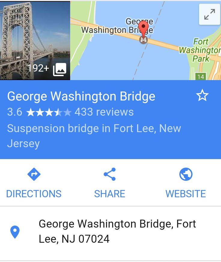 George Washington Bridge, NY. In Washington Heights.