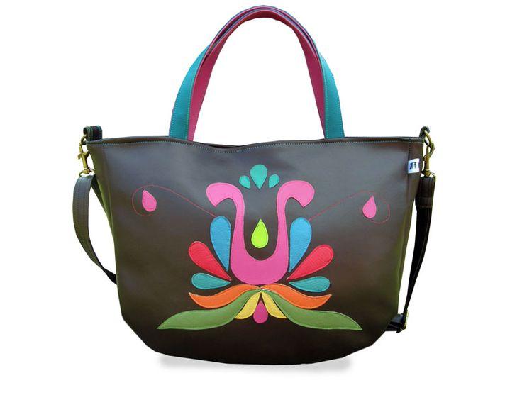 Colorful hungarian folk symbol