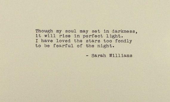 El viejo astrónomo - he amado a la mano de estrellas - Sarah Williams - máquina de escribir Vintage - poesía - poema - cotización - mecanografiada