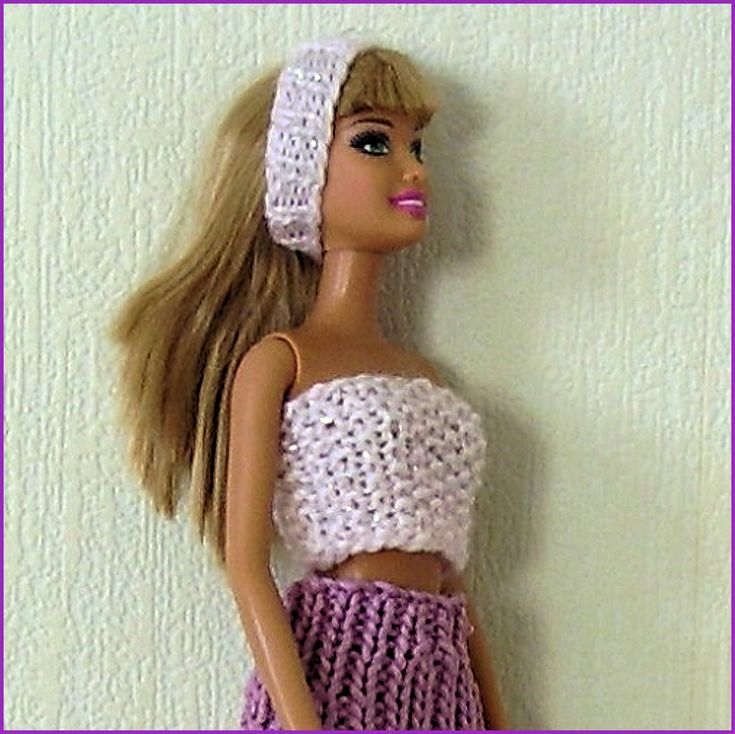 Skirt Measurements To fit Barbie doll 29 cm (11½ inch) fashion doll Length of skirt: 10 cm (4 inches) Materials 4 ply yarn A pair of 2 mm (US 0) knitting needles Tension /…