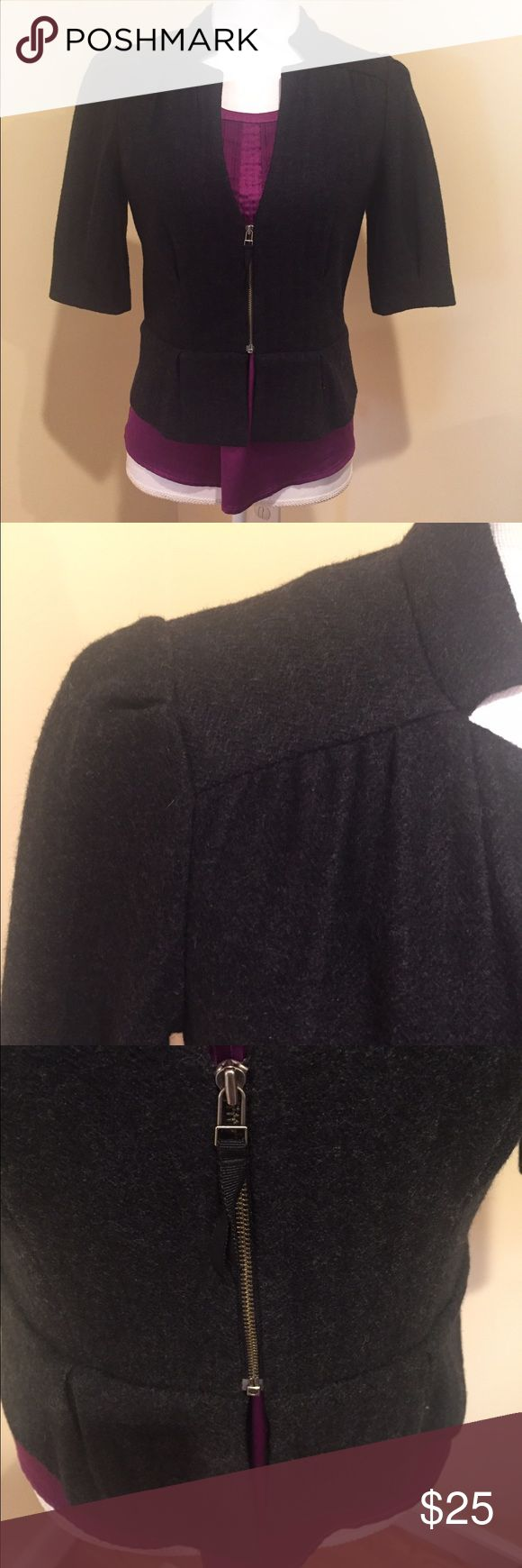 Banana Republic Charcoal Gray Jacket Love, love this jacket that can be worn to work with nice pants or a pencil skirt or casually with jeans! Excellent condition. Banana Republic Jackets & Coats Blazers