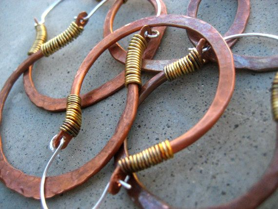 Simply Hip Hoop Earrings Smallest Mixed Metal Jewelry by SilviasCreations, $39.00