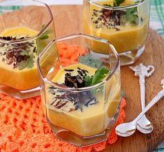 Пряный тыквенный суп с диким рисом