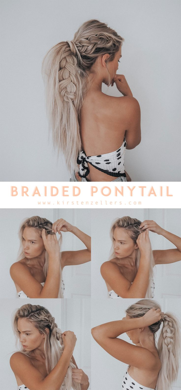 Kirsten Zellers braided side ponytail with hair clip accessories | easy hairstyl…