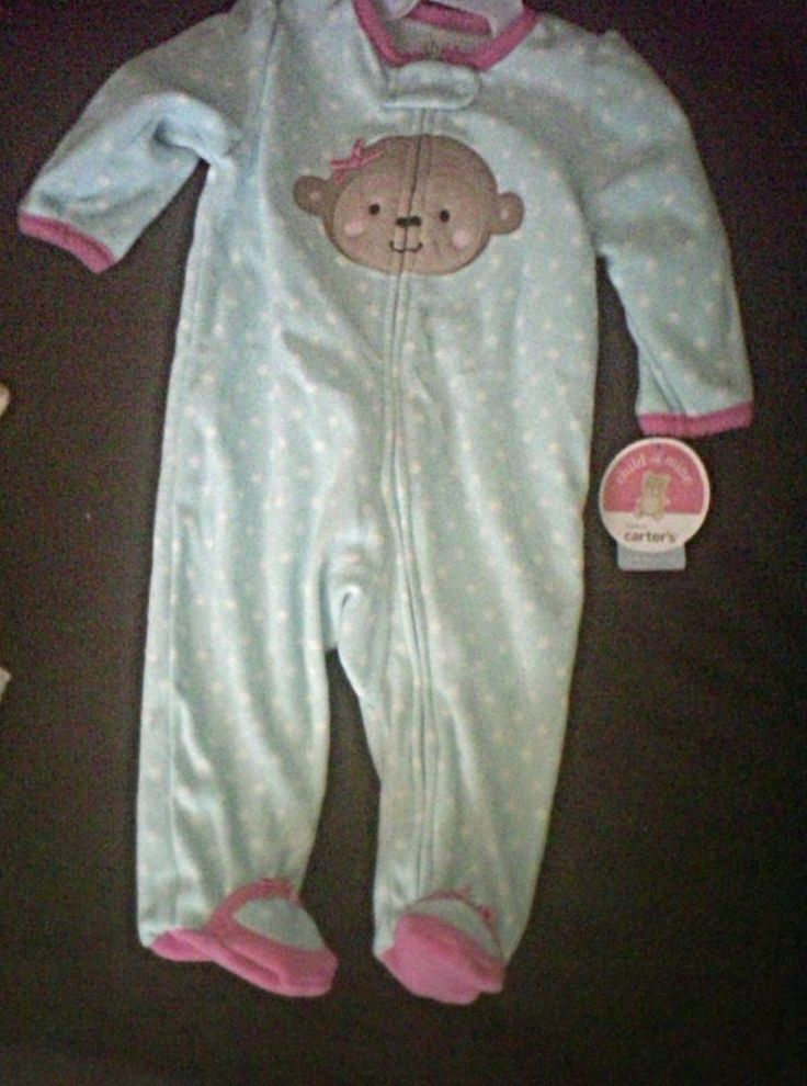 child of mine carter baby blue sleeper 3-6 mons #carters #OnePiece