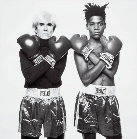 Warhol  Basquiat  in my dorm room this is called the picture of josh and chris