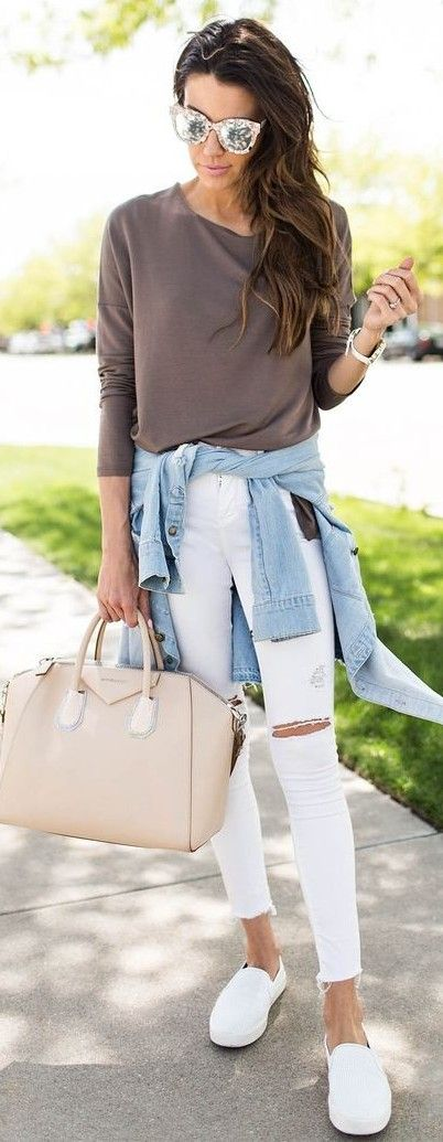 #spring #fashion #stylish #outfitideas | Spring neutrals weekend style outfit | Hello Fashion
