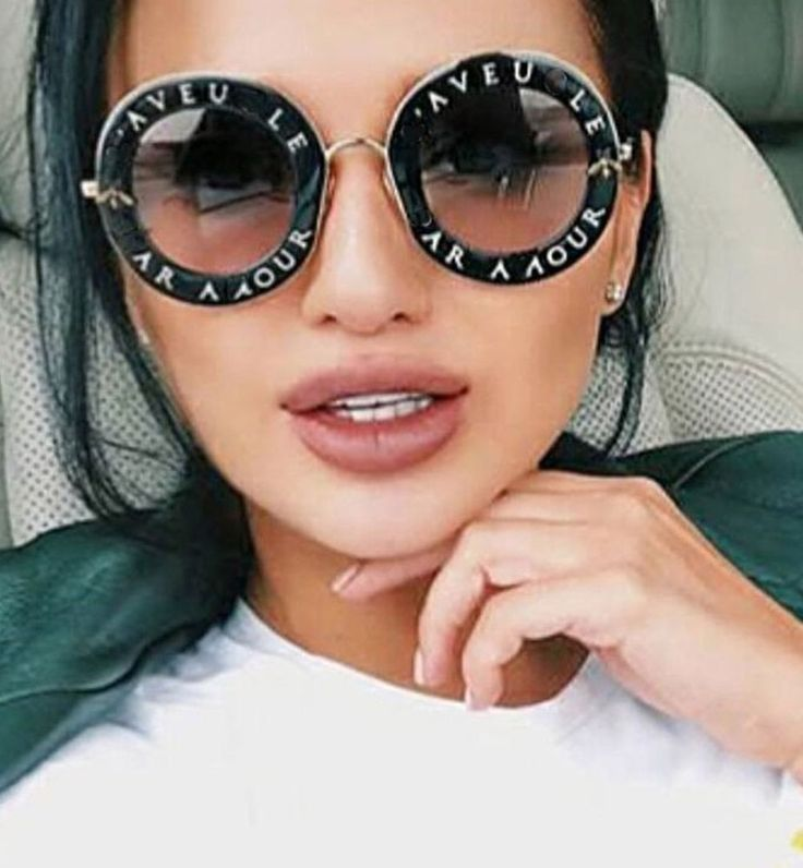 Retro Round Women Sunglasses English Letters Bee Metal Frame Circle Fashion New #RetroRoundChina #Round