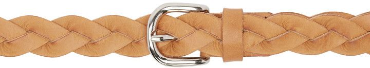 Isabel Marant Tan Braided Dirk Belt, leather, made in Italy. http://shopstyle.it/l/kGj