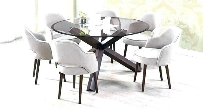 Gl Round Dining Table And 6 Chairs