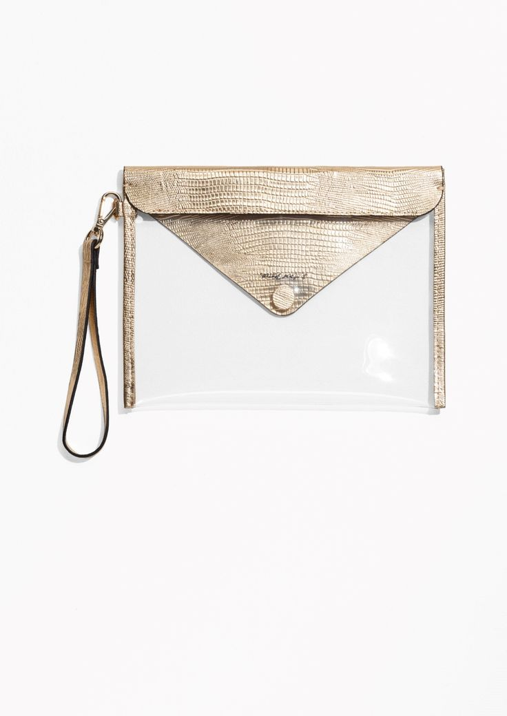 & Other Stories image 3 of Transparent Clutch  in Gold