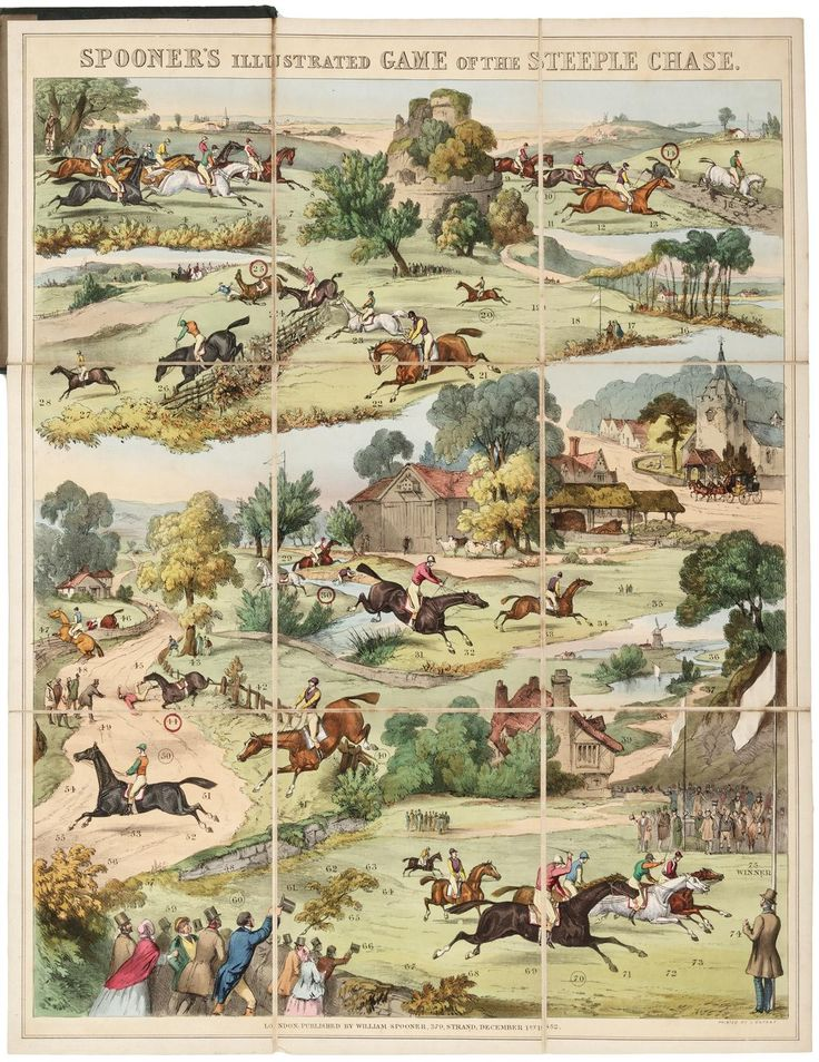 Spooner's Game of The Steeple Chase - Price Estimate: $1000 - $1500