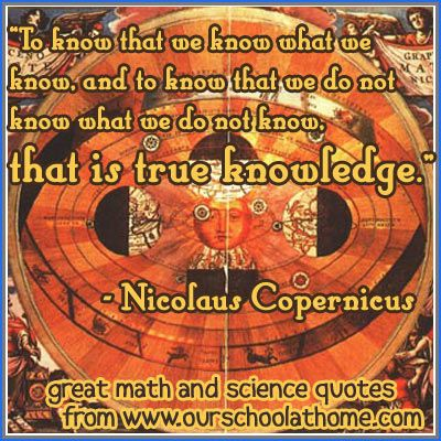 Nicolaus Copernicus offers wisdom about wisdom | Our School at Home