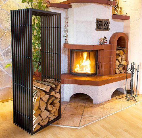 die besten 25 holzkorb kamin ideen auf pinterest innen brennholz rack wandregal halterung. Black Bedroom Furniture Sets. Home Design Ideas