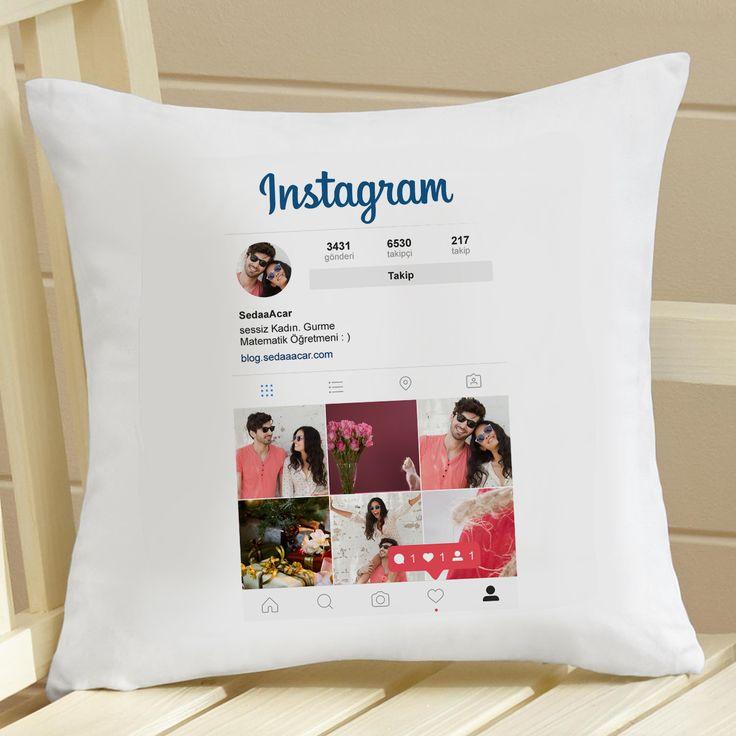 Kişiye Özel Instagram Yastık