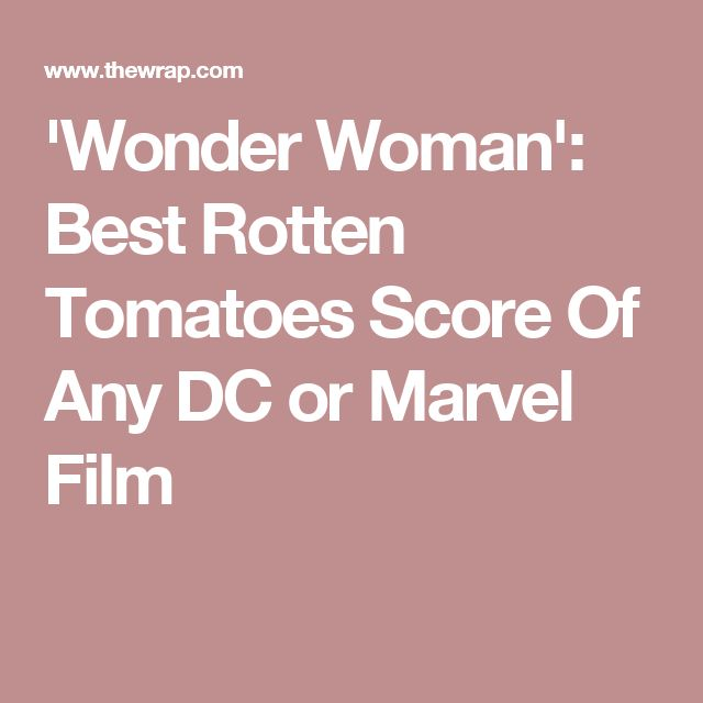 'Wonder Woman': Best Rotten Tomatoes Score Of Any DC or Marvel Film