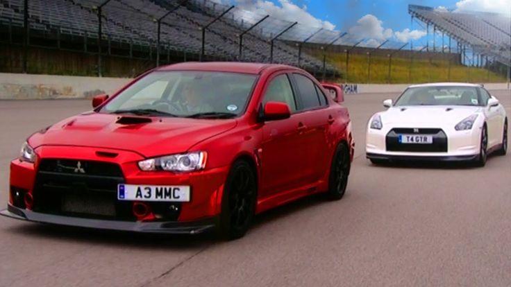 http://www.strictlyforeign.biz/default.asp Nissan GTR vs Mitsubishi EVO FQ 400 - Fifth Gear