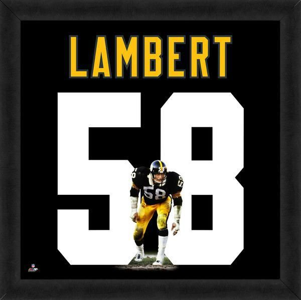 Jack Lambert Framed Pittsburgh Steelers 20x20 Jersey Photo - Sports Integrity