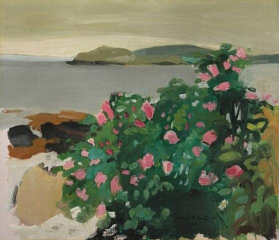 """Fairfield Porter:  """"Wild Roses"""""""