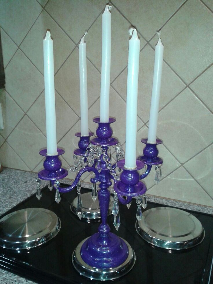 Purple candelabra