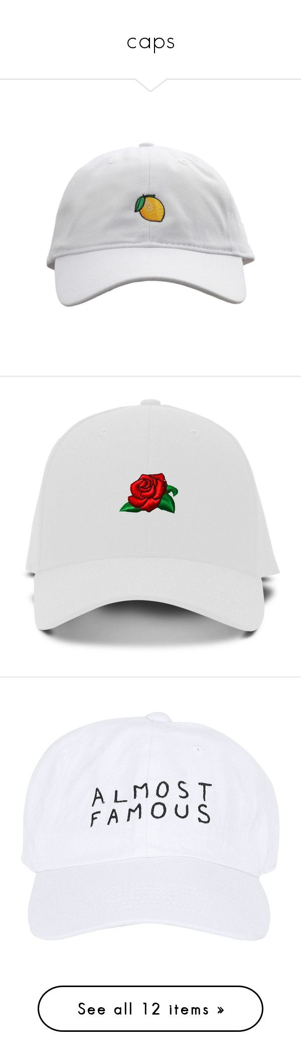 """""""caps"""" by ouchm4rvel ❤ liked on Polyvore featuring accessories, hats, caps, accessories - hats, snapback hats, snap back hats, snap back cap, embroidery caps, green brim hats and baseball hat"""