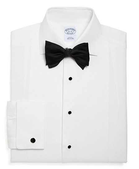 Also a good shirt to have. Slim Fit Bib-Front Spread Collar Formal Tuxedo Shirt - Brooks Brothers
