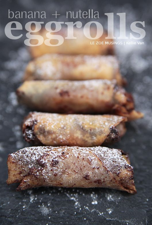 Nutella Banana Egg Rolls - Easy!